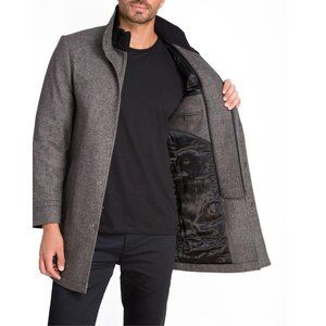 Jared Lang Wool Coat With Inner Zip 42 Large NEW